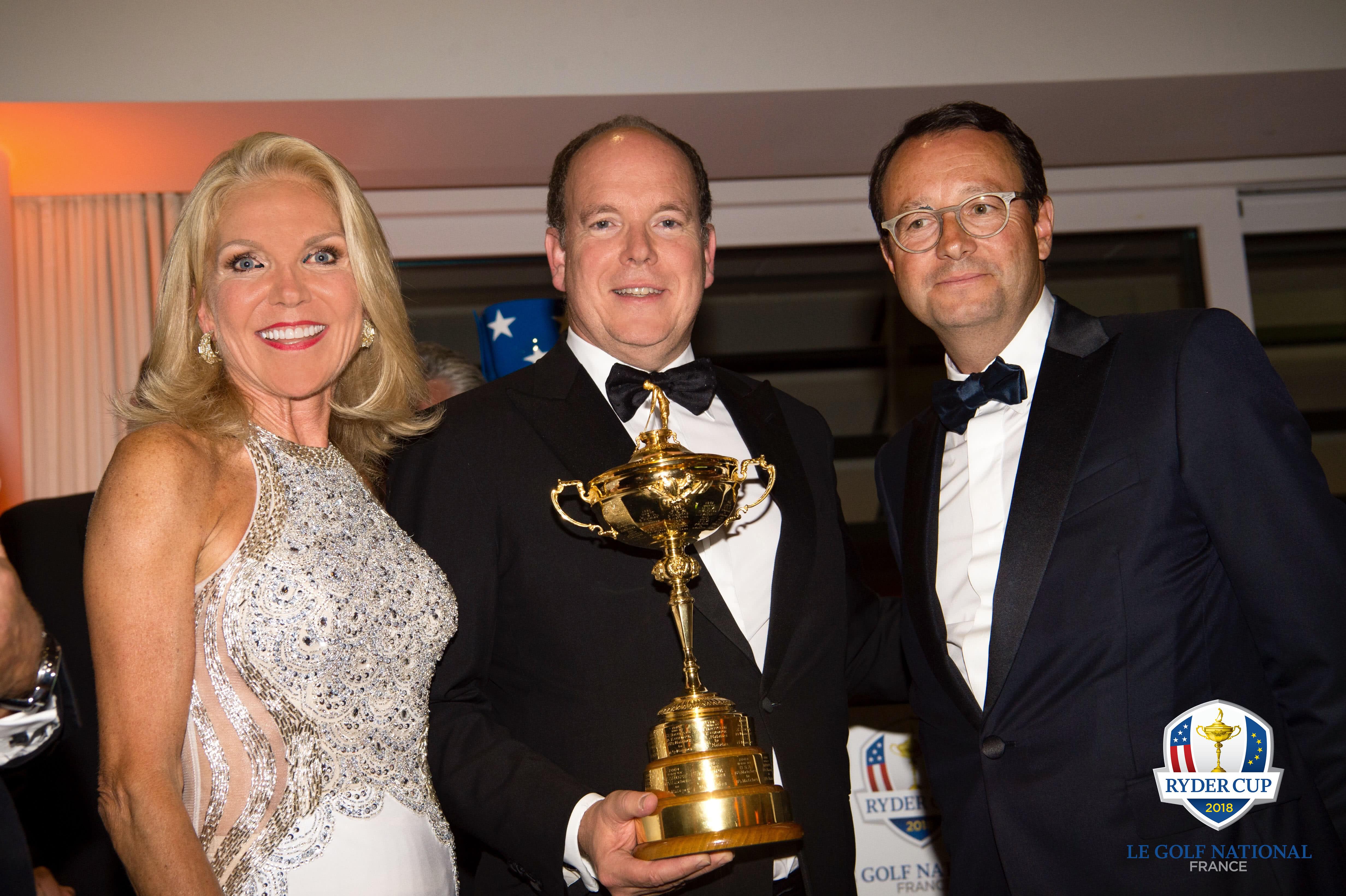 Madame Susan Feaster, SAS Prince Albert II de Monaco et Pascal Grizot Credit Photo Pascale Bayle