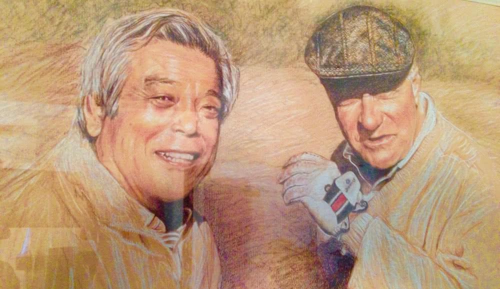 Yoshiaki Sakurai et le Baron Marcel Bich