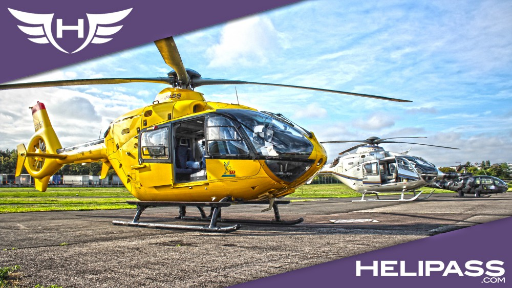 H135 au parking Helipass