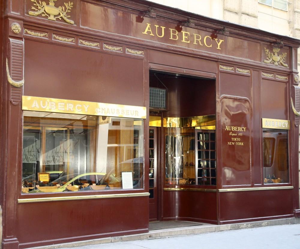 Le magasin Aubercy rue Vivienne à Paris