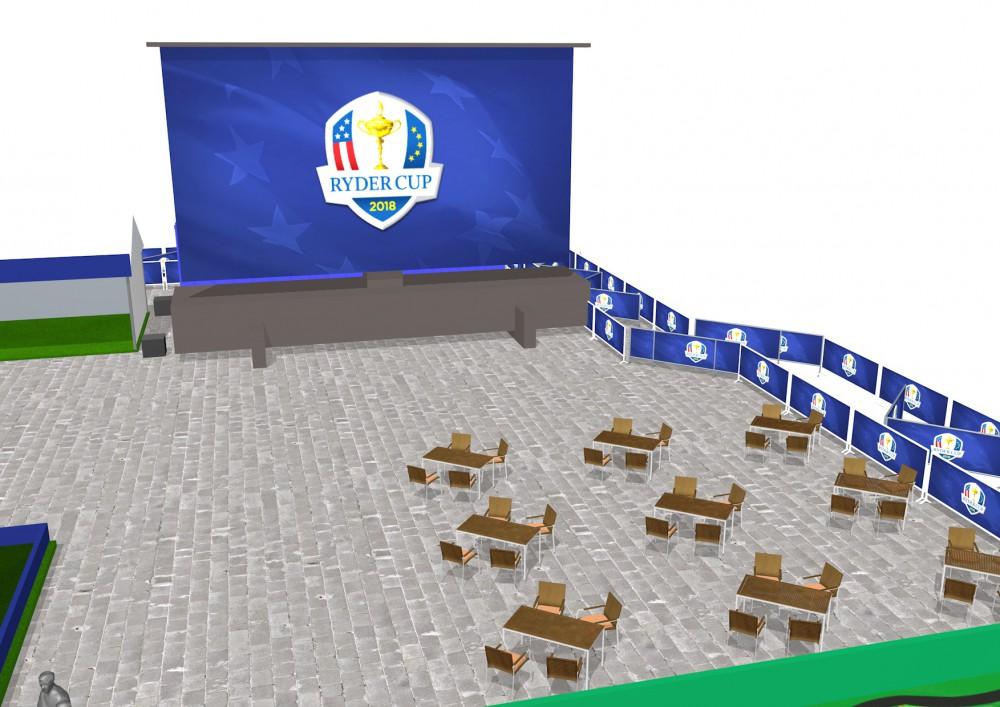 L'écran géant de la Ryder Cup 2018 à Paris