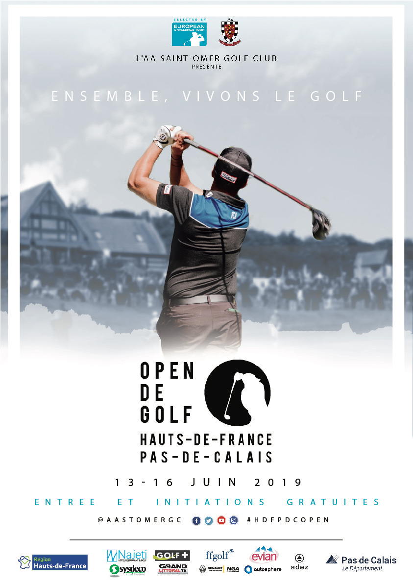 L'affiche Open Hauts de France -Pas de Calais 2019