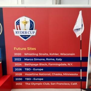 Ryder Cup 2022 en Italie à Rome au Marco Simone Golf Club