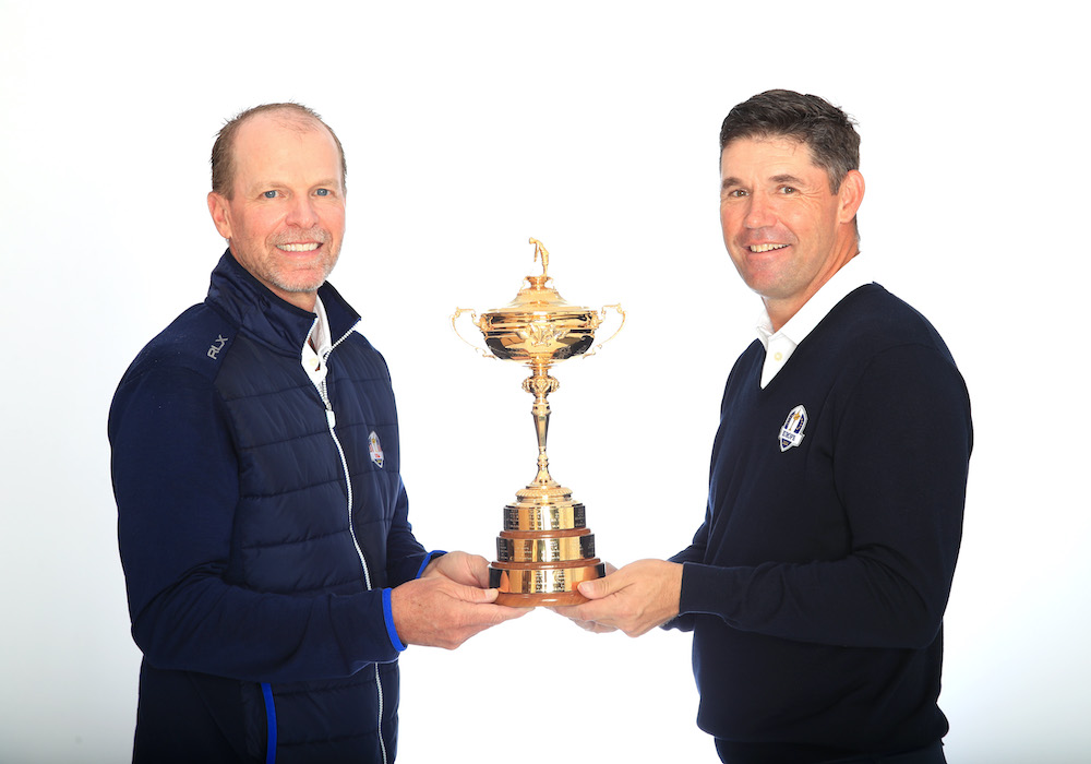 Padraig Harrington et Steve Stricker, Capitaine de la Ryder Cup2020