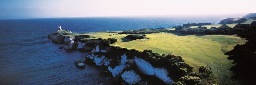 Golfs, tourisme, bord de mer et océan